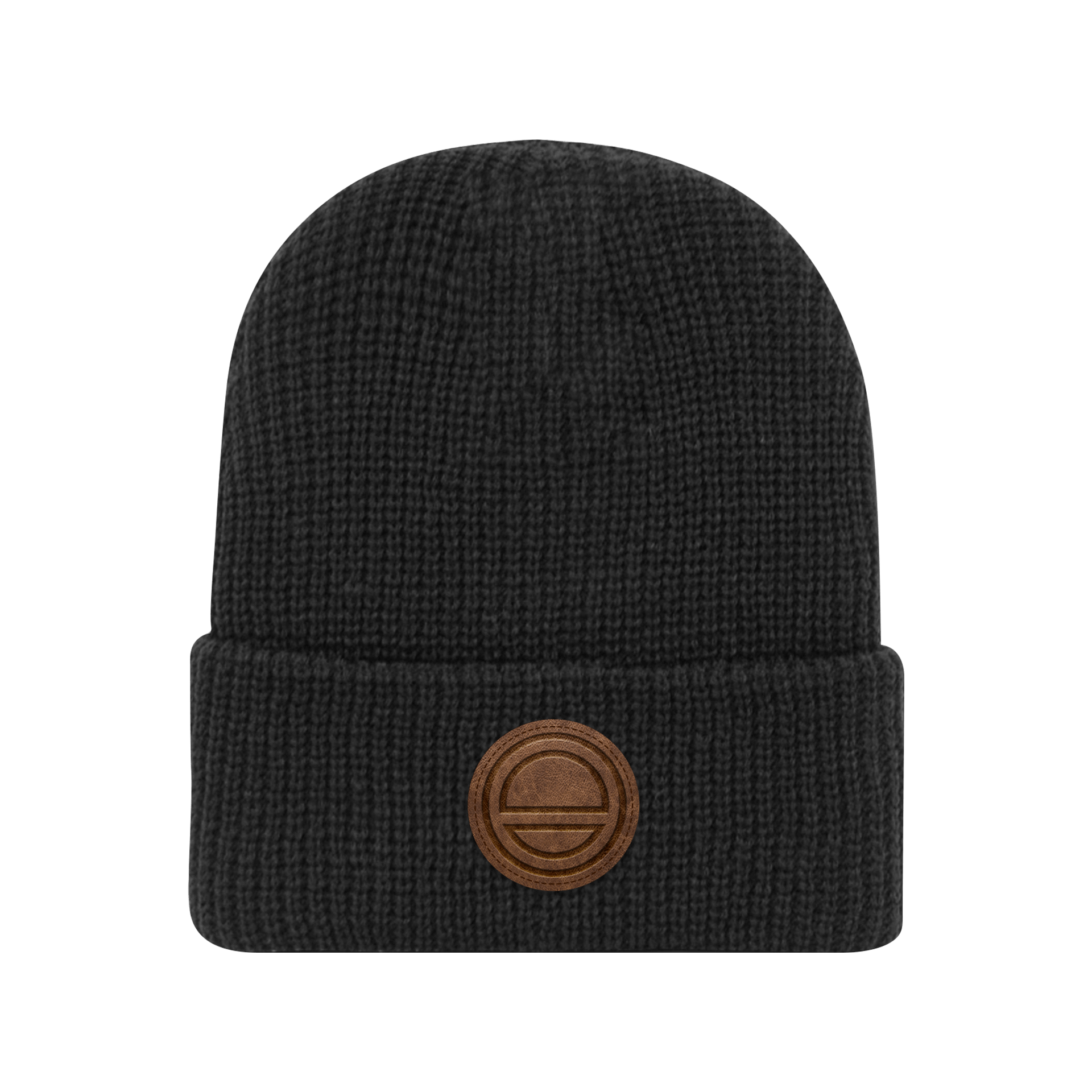 leather patch beanie ever eden leather patch beanie